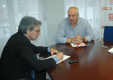 Entrevista a Francisco Carbonero secretario general de CC.OO en Andalucía