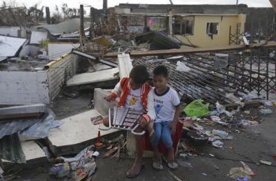 Los huérfanos del Tifón Haiyan doblemente victimas